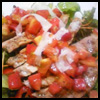 飯南豚のグリル完熟トマトのさっぱりソース