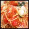 フレッシュトマトとモッツァレラチーズのトマトソース